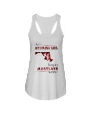 WYOMING GIRL LIVING IN MARYLAND WORLD Ladies Flowy Tank thumbnail