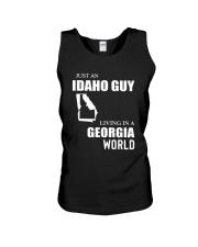 JUST AN IDAHO GUY LIVING IN GEORGIA WORLD Unisex Tank thumbnail