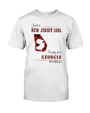 JERSEY GIRL LIVING IN GEORGIA WORLD Classic T-Shirt front