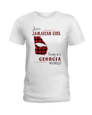 JAMAICAN GIRL LIVING IN GEORGIA WORLD Ladies T-Shirt thumbnail