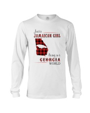 JAMAICAN GIRL LIVING IN GEORGIA WORLD Long Sleeve Tee thumbnail
