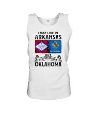 LIVE IN ARKANSAS BEGAN IN OKLAHOMA Unisex Tank thumbnail