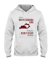 SOUTH CAROLINA GIRL LIVING IN KENTUCKY WORLD Hooded Sweatshirt thumbnail