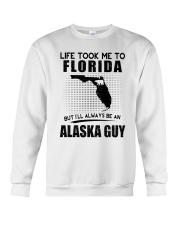 ALASKA GUY LIFE TOOK TO FLORIDA Crewneck Sweatshirt thumbnail