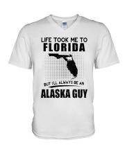 ALASKA GUY LIFE TOOK TO FLORIDA V-Neck T-Shirt thumbnail