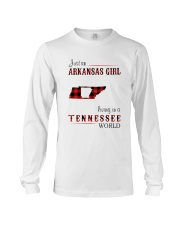 ARKANSAS GIRL LIVING IN TENNESSEE WORLD Long Sleeve Tee thumbnail