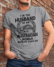 I'M THE HUSBAND OF AN AUSTRALIAN WOMAN Classic T-Shirt apparel-classic-tshirt-lifestyle-26