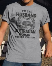 I'M THE HUSBAND OF AN AUSTRALIAN WOMAN Classic T-Shirt apparel-classic-tshirt-lifestyle-28