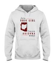 OHIO GIRL LIVING IN ARIZONA WORLD Hooded Sweatshirt thumbnail