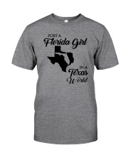 JUST A FLORIDA GIRL IN A TEXAS WORLD Classic T-Shirt thumbnail