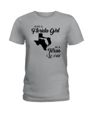 JUST A FLORIDA GIRL IN A TEXAS WORLD Ladies T-Shirt front