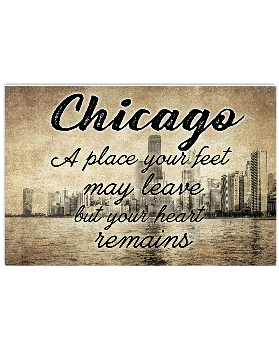 CHICAGO YOUR HEART REMAINS 24x16 Poster