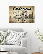 CHICAGO YOUR HEART REMAINS 24x16 Poster poster-landscape-24x16-lifestyle-01