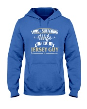LONG SUFFERING WIFE OF A JERSEY GUY Hooded Sweatshirt thumbnail