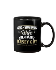 LONG SUFFERING WIFE OF A JERSEY GUY Mug tile