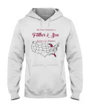 FLORIDA MICHIGAN THE LOVE A FATHER AND SON Hooded Sweatshirt thumbnail