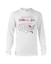 FLORIDA MICHIGAN THE LOVE A FATHER AND SON Long Sleeve Tee thumbnail
