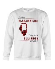 ALABAMA GIRL LIVING IN ILLINOIS WORLD Crewneck Sweatshirt thumbnail