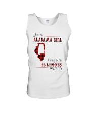 ALABAMA GIRL LIVING IN ILLINOIS WORLD Unisex Tank thumbnail