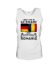 LIVE IN GERMANY BEGAN IN ROMANIA Unisex Tank thumbnail