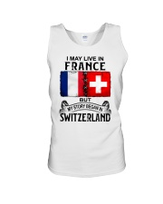 LIVE IN FRANCE BEGAN IN SWITZERLAND Unisex Tank thumbnail