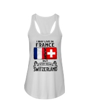 LIVE IN FRANCE BEGAN IN SWITZERLAND Ladies Flowy Tank thumbnail