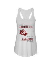 AMERICAN GIRL LIVING IN CANADIAN WORLD Ladies Flowy Tank thumbnail