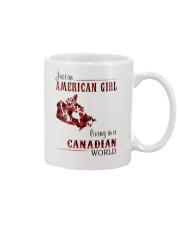 AMERICAN GIRL LIVING IN CANADIAN WORLD Mug thumbnail