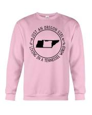 OREGON GIRL LIVING IN TENNESSEE WORLD Crewneck Sweatshirt thumbnail