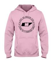 OREGON GIRL LIVING IN TENNESSEE WORLD Hooded Sweatshirt thumbnail