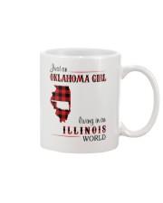 OKLAHOMA GIRL LIVING IN ILLINOIS WORLD Mug thumbnail