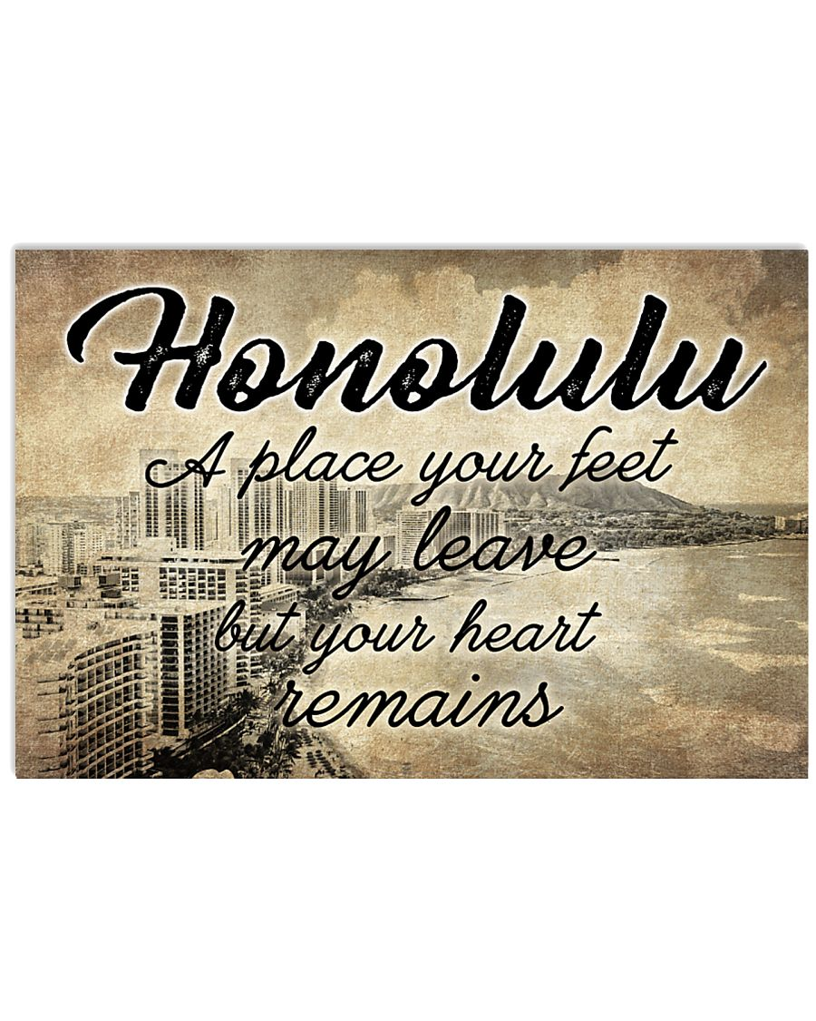 HONOLULU A PLACE YOUR HEART REMAINS 24x16 Poster