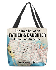 MICHIGAN CALIFORNIA FATHER DAUGHTER I LOVE DAD All-over Tote thumbnail