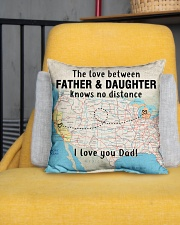 "MICHIGAN CALIFORNIA FATHER DAUGHTER I LOVE DAD Indoor Pillow - 16"" x 16"" aos-decorative-pillow-lifestyle-front-01"