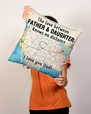 "MICHIGAN CALIFORNIA FATHER DAUGHTER I LOVE DAD Indoor Pillow - 16"" x 16"" aos-decorative-pillow-lifestyle-front-02"