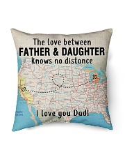 "MICHIGAN CALIFORNIA FATHER DAUGHTER I LOVE DAD Indoor Pillow - 16"" x 16"" back"