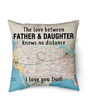 "MICHIGAN CALIFORNIA FATHER DAUGHTER I LOVE DAD Indoor Pillow - 16"" x 16"" front"