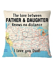 MICHIGAN CALIFORNIA FATHER DAUGHTER I LOVE DAD Square Pillowcase thumbnail