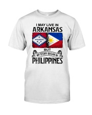 LIVE IN ARKANSAS BEGAN IN PHILIPPINES Classic T-Shirt tile