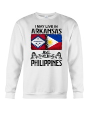 LIVE IN ARKANSAS BEGAN IN PHILIPPINES Crewneck Sweatshirt thumbnail