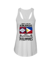 LIVE IN ARKANSAS BEGAN IN PHILIPPINES Ladies Flowy Tank thumbnail