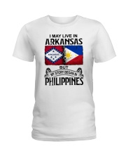 LIVE IN ARKANSAS BEGAN IN PHILIPPINES Ladies T-Shirt thumbnail