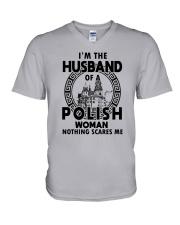 I'M THE HUSBAND OF A POLISH WOMAN V-Neck T-Shirt thumbnail