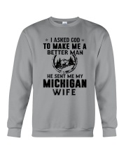 HE SENT ME MY MICHIGAN WIFE Crewneck Sweatshirt thumbnail