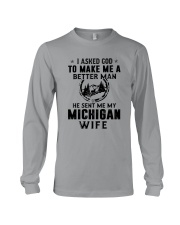 HE SENT ME MY MICHIGAN WIFE Long Sleeve Tee thumbnail