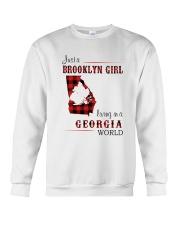 BROOKLYN GIRL LIVING IN GEORGIA WORLD Crewneck Sweatshirt thumbnail
