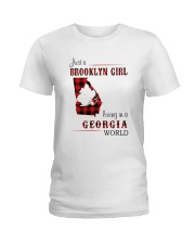 BROOKLYN GIRL LIVING IN GEORGIA WORLD Ladies T-Shirt thumbnail