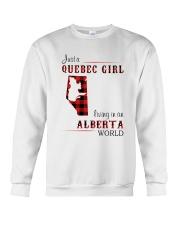 QUEBEC GIRL LIVING IN ALBERTA WORLD Crewneck Sweatshirt thumbnail