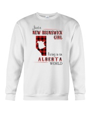 NEW BRUNSWICK GIRL LIVING IN ALBERTA WORLD Crewneck Sweatshirt thumbnail