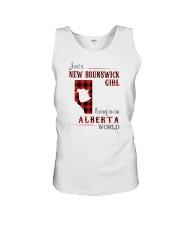 NEW BRUNSWICK GIRL LIVING IN ALBERTA WORLD Unisex Tank thumbnail